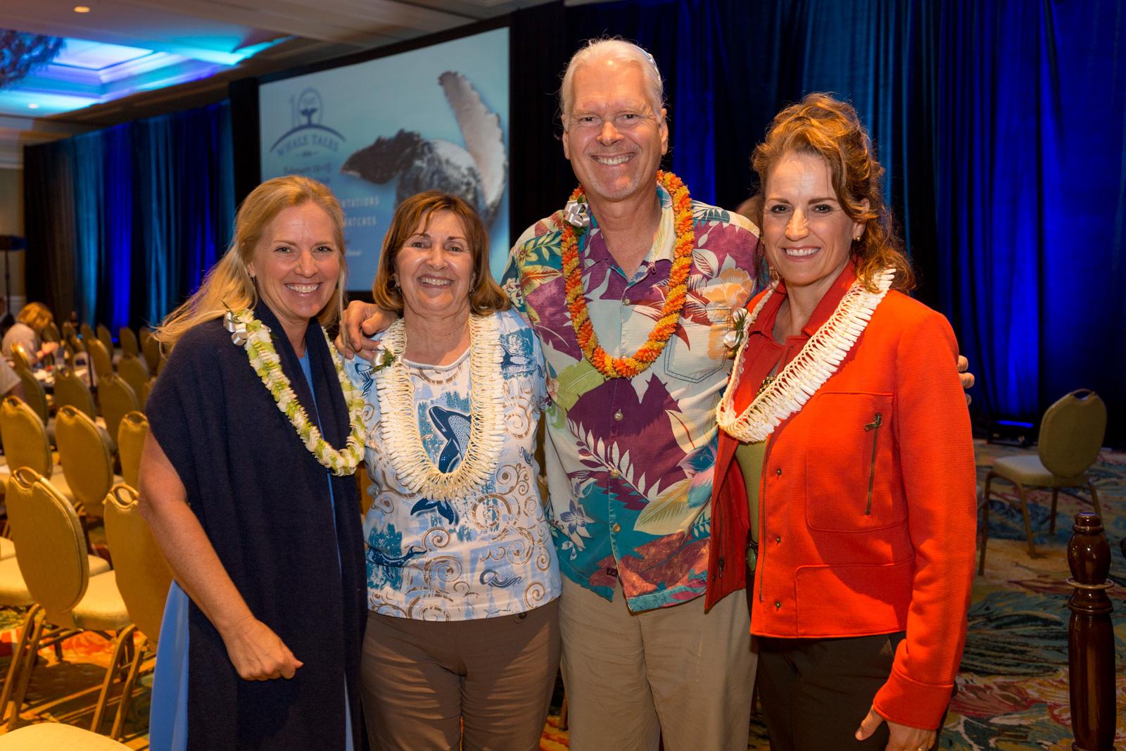 Whale Trust Co-Founder Meagan jones, Ph.D. with the Makana Aloha 'ohana